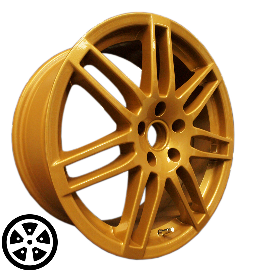 Wheel Colour Change Gold